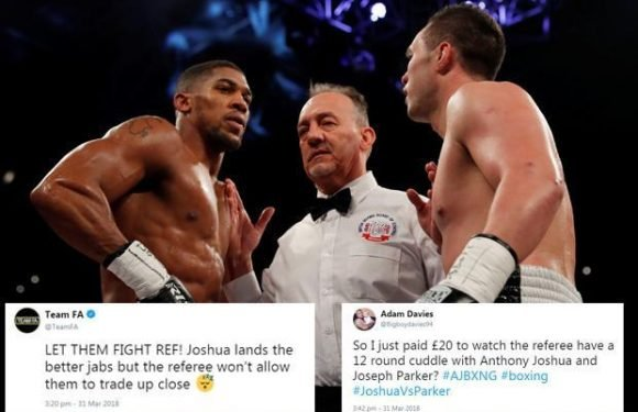 Joshua vs Parker: Fans fume on Twitter as they slam the performance of the referee during unification bout