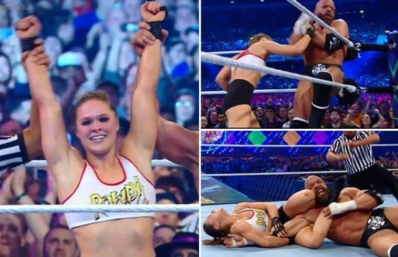 WrestleMania 34: Ronda Rousey gets seal of approval from WWE fans after defeating Triple H and Stephanie McMahon with Kurt Angle