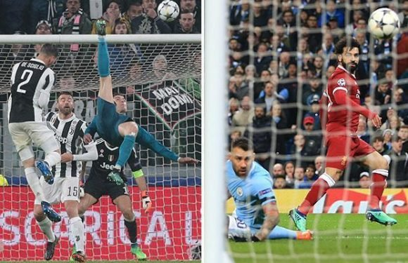 Mohamed Salah's chip against Manchester City remarkably pips Cristiano Ronaldo to best quarter-final Champions League goal