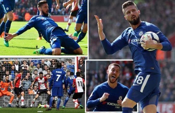 Southampton 2 Chelsea 3: Olivier Giroud double seals stunning fightback to shatter relegation-threatened Saints