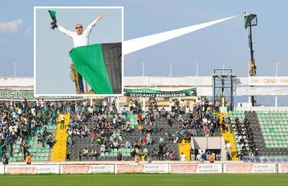 Turkish fan gets around stadium ban by hiring a crane to watch his beloved team thrash rivals 5-0