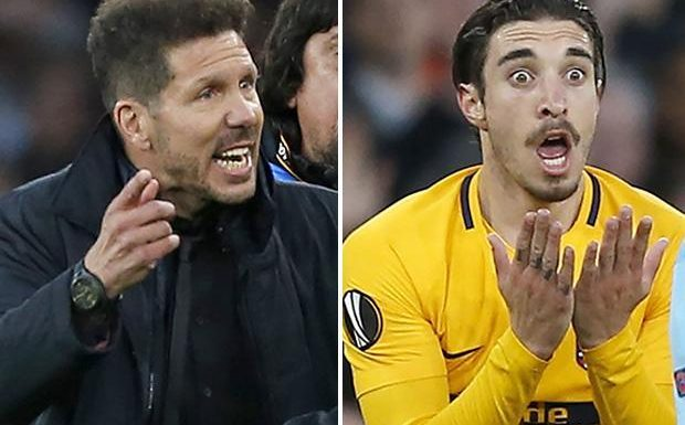 Arsenal vs Atletico Madrid: Ref was RIGHT to send off Sime Vrsaljko and Diego Simeone in early stages