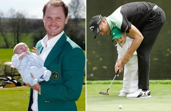 Masters 2018: Danny Willett joined by son on Masters Par 3 course – two years after the England star ran off following victory to be with the new-born boy