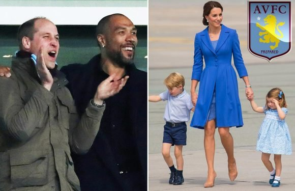 Kate Middleton reveals Prince George and Princess Charlotte are also Aston Villa fans after William spotted at Cardiff match