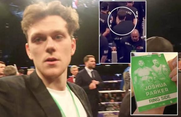 YouTube prankster Zac Alsop incredibly sneaks into ring to celebrate Anthony Joshua's win over Joseph Parker