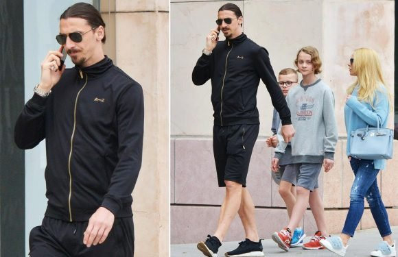 Zlatan Ibrahimovic and family enjoy meal in Los Angeles as Galaxy star reveals plans to conquer Hollywood