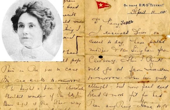 Rare Titanic love letter offers insight into life on doomed ship