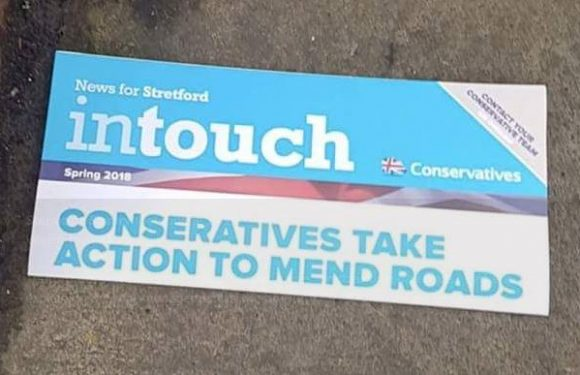 Tories mocked for not even being able to spell 'Conservatives' correctly on their own local election leaflets