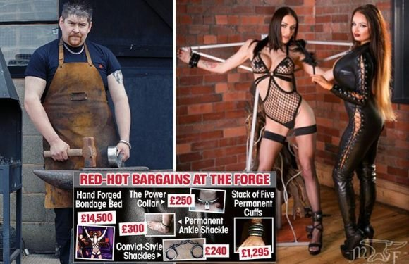 Blacksmith bashes out metal bondage sex aids and contraptions costing up to £14,500