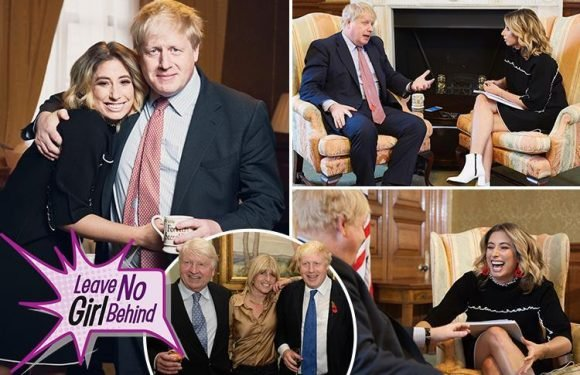 Stacey Solomon grills Boris Johnson about women's education, his sister Rachel and dad Stanley
