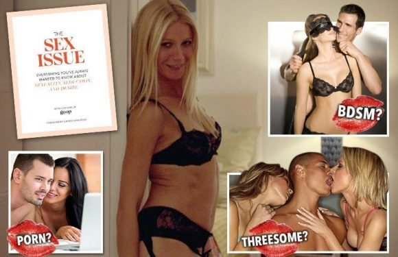 Hollywood actress Gwyneth Paltrow puts together saucy guide The Sex Issue