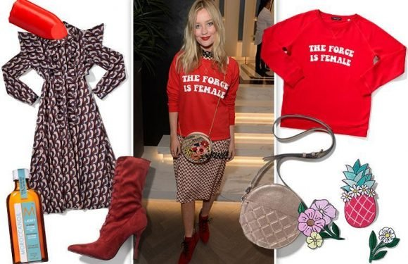 How to look like TV presenter Laura Whitmore, 32, who makes a statement with a slogan sweatshirt