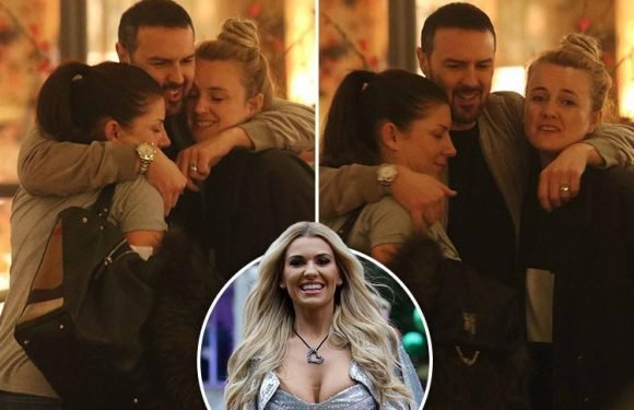 Take Me Out host Paddy McGuinness hugs two female pals on boozy night out in London