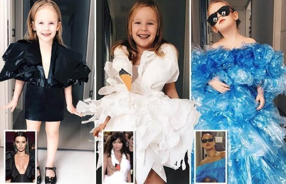Little girl dresses in PERFECT replicas of the stars' most famous gowns… and her style videos have made her a YouTube star