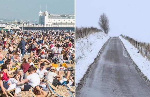 UK weather – forecasters warn of SNOW next week with temperatures set to tumble following 29C heatwave