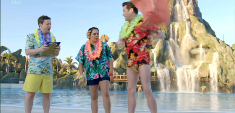 Saturday Night Takeaway viewers horrified by Stephen Mulhern's tiny gold swimming trunks