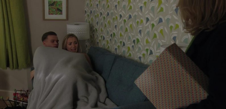 EastEnders fans convinced Louise Mitchell will get pregnant with Hunter Owen's baby after another steamy sex scene