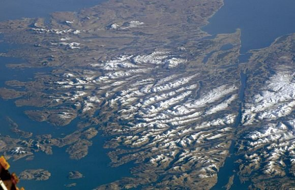 Astronaut captures a beautifully clear image of the Scottish Highlands