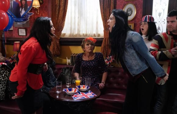 EastEnders spoilers: Hayley Slater throws a drink at cousin Kat in a furious row