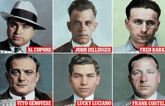 America's infamous criminals brought to life in colorized mugshots