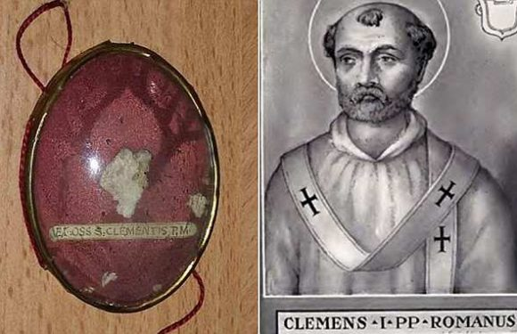'Bone of Pope St Clement' is found in a London bin