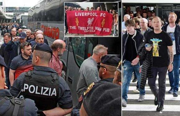 Liverpool arrive for Champions League clash in Rome without incident