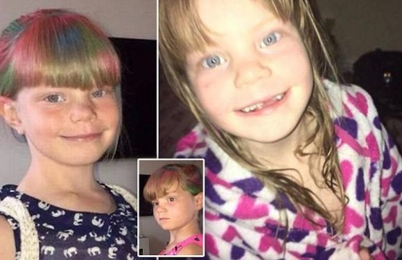'Bubbly' eight-year-old girl killed in front of her little sister