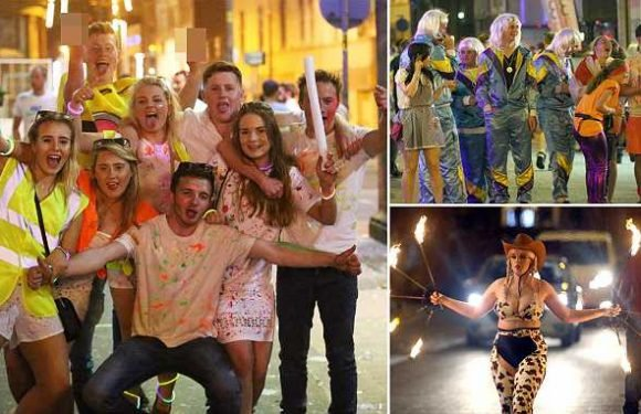 Bank holiday descends into boozy carnage as revellers hit the streets
