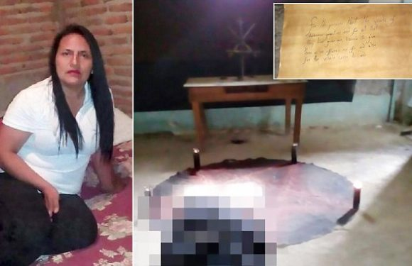 Mother-of-six is found dead with pentagrams carved into her hands