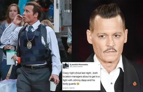 Johnny Depp 'attacked' man after day of drinking and smoking on set