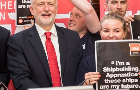 Corbyn red-faced after posing with posters that have spelling blunders