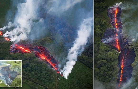Huge new 1,000ft fissure opens up in Hawaii amid fears of eruption