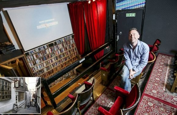 One of UK's last video rental shops turns into smallest cinema ever