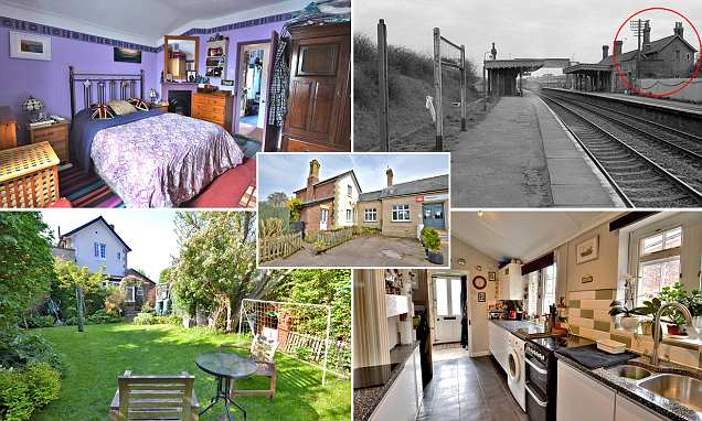 Cosy three-bed Station House on a working railway line goes on sale