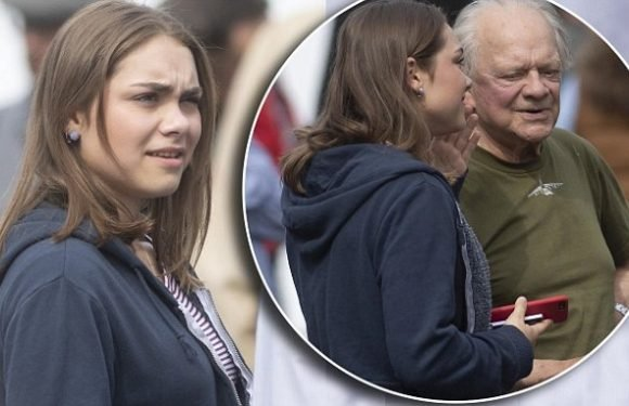 David Jason's daughter Sophie Mae visits her 78-year-old father on set