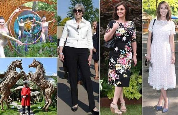 Chelsea Flower Show throws its doors open to Theresa May and the Queen