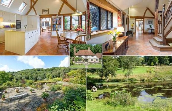 Five-bedroom house with 43-acre garden goes on sale for £3million