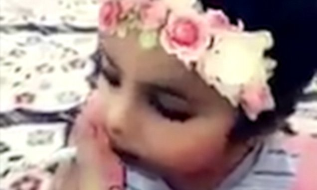Saudi father is arrested after forcing his young daughter to smoke