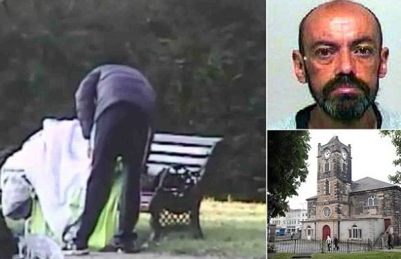 Thug who set fire to homeless man on park bench  is jailed