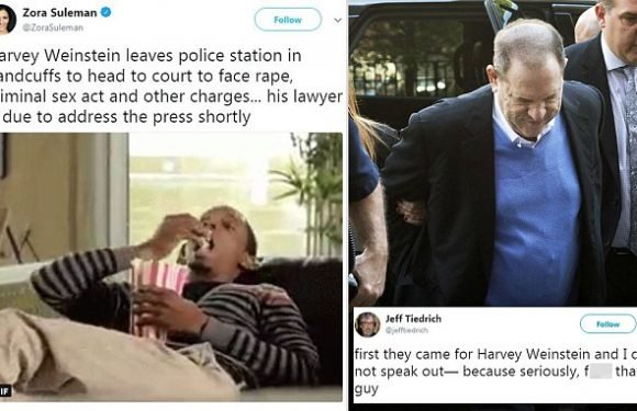 Twitter rejoices as Harvey Weinstein turns himself in on rape charges
