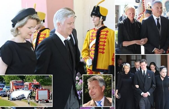 King and Queen of Belgium join nobility at the funeral of German duke
