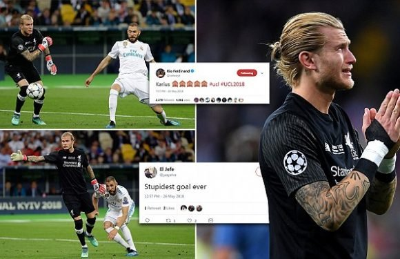 Twitter reacts as Liverpool's Loris Karius makes bizarre blunder