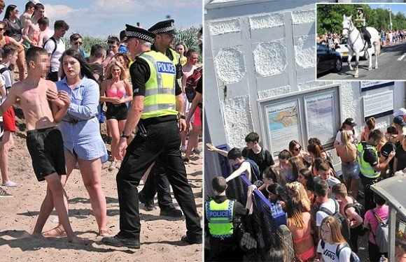 Thousands of teenagers are left stranded after Buckfast beach party
