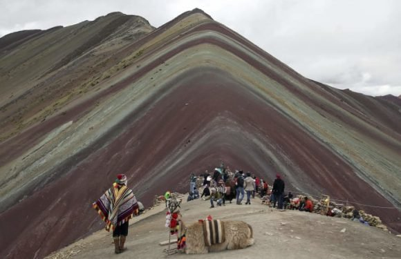 Blessing or curse? Tourists discover Peru's magical Rainbow Mountain