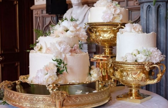 Harry and Meghan's mouth-watering £50,000 wedding cake pictured for first time