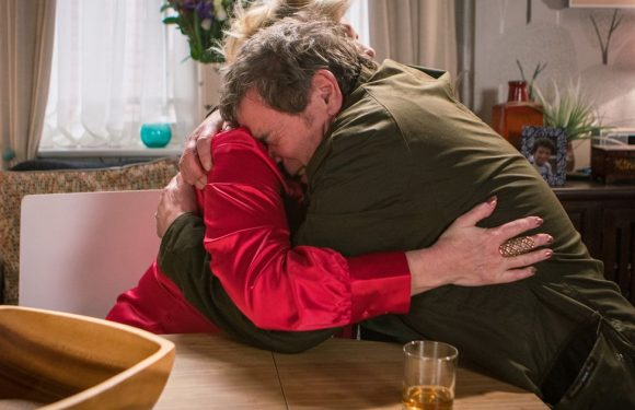 Corrie's Johnny seeks comfort in the arms of Liz before blazing row with Jenny