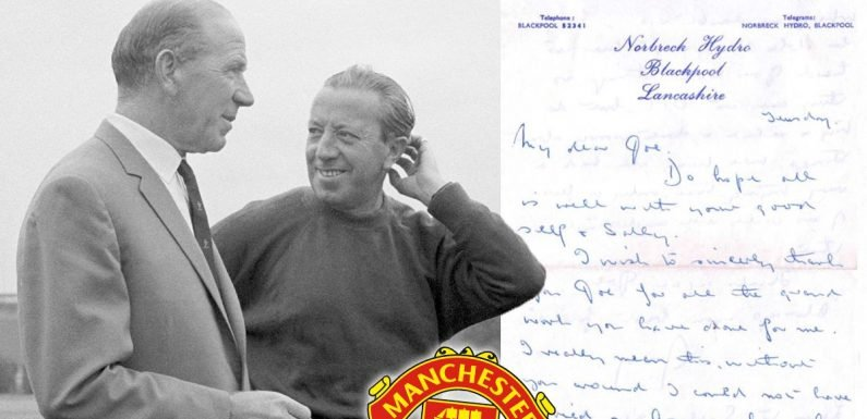 Incredible letter emerges from United chief on amazing part of club's history