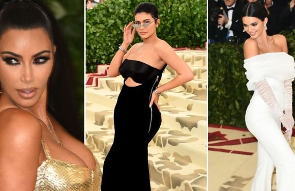 Kardashians stun at Met Gala – but fans notice something odd on Kylie's arm