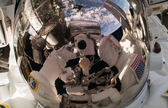 NASA astronaut takes out-of-this-world selfie during a spacewalk
