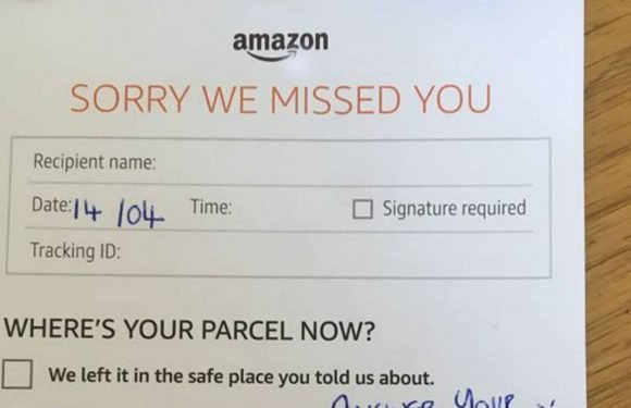 """Family's fear after Amazon driver leaves """"angry, unpleasant and aggressive"""" note"""